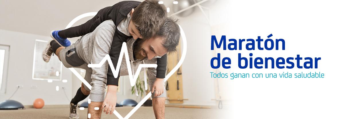 banner maratón deporte y vida sana
